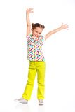 Little fashionable girl Royalty Free Stock Images