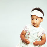 Little fashionable girl. Portrait of a lovely little girl in fashionable clothing Stock Photos