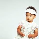 Little fashionable girl Stock Photos