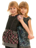 Little fashionable girls Stock Photography