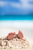 Little feet covered with sand Royalty Free Stock Photos
