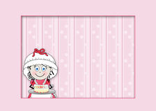 Little Female Graphic chef - Pink Background Royalty Free Stock Photo