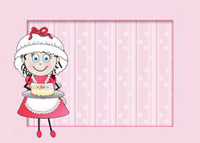Little Female Graphic chef - Pink Background Stock Image