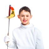 Little fencer stock photo