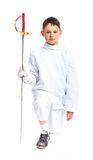Little fencer Royalty Free Stock Images