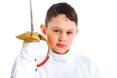 Little fencer Stock Photography