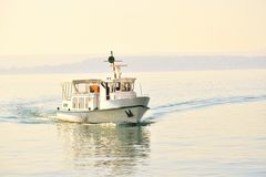 A little ferry boat Royalty Free Stock Photos