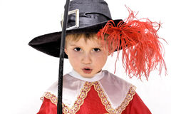 Little fighting musketeer. Stock Photo