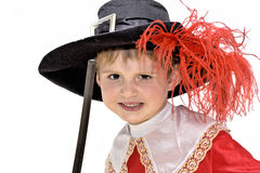 Little fighting musketeer. Royalty Free Stock Image