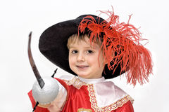 Little Fighting Musketeer. Royalty Free Stock Photos