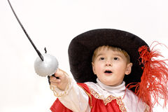 Little fighting musketeer. Royalty Free Stock Photography