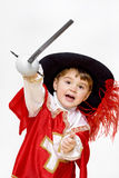 Little fighting musketeer. Royalty Free Stock Photo