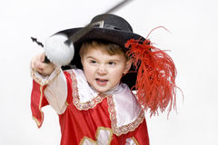 Little fighting musketeer. Stock Photography