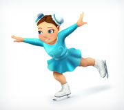 Little figure skater icon. Little figure skater, vector icon Royalty Free Stock Photos