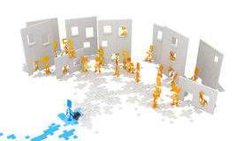 Little Figures, Newcomer Royalty Free Stock Image