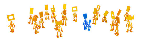 Little Figures, Parent Stock Image