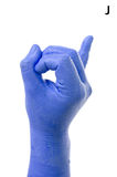 Little Finger Spelling the Alphabet in American Sign Language (ASL). The Letter J royalty free stock photo