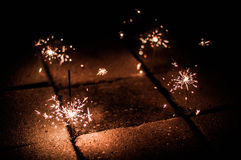 Little fire work Royalty Free Stock Photos