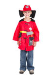 Little firefighter Royalty Free Stock Image