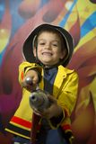 Little firefighter Royalty Free Stock Images