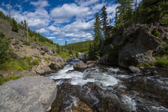 Little Firehole River near the Mystic Falls Stock Image