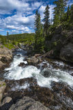 Little Firehole River near the Mystic Falls Stock Photo