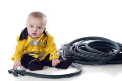 Little Fireman Royalty Free Stock Images