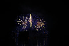 Little fireworks. Great fireworks on the lake Stock Photography