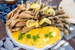Little fish dish Royalty Free Stock Image