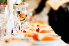 A little fish in the wineglass Royalty Free Stock Image