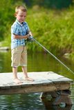 Little fisher Royalty Free Stock Photography