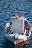 Little fisher boat in Greece Stock Photo