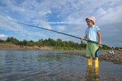 Little fisherman Stock Photos