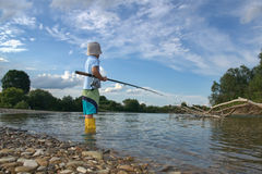 Little fisherman Stock Image