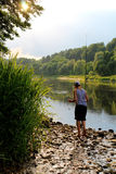 Little fisherman royalty free stock photography
