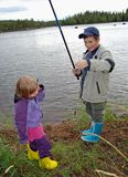 Little fishers Stock Images