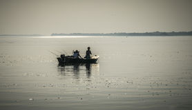 Little Fishing Boat. A fishing boat on the river Danube Royalty Free Stock Photography