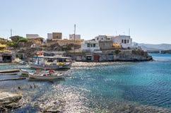 Little fishing village in Kimolos island, Cyclades, Greece Royalty Free Stock Photo