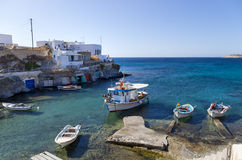 Little fishing village in Kimolos island, Cyclades, Greece Stock Photos