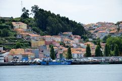 Little fishing village near the river Douro Stock Images