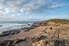 Little Fistral Beach in Cornwall Stock Photo