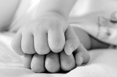 Little fists Royalty Free Stock Images