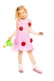 Spring blond little girl Royalty Free Stock Photos