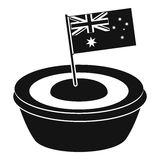 Little flag icon, simple style Royalty Free Stock Images