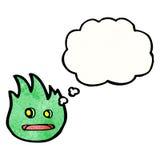 Little flame monster cartoon Stock Photos