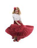 Little flamenco dancer Royalty Free Stock Photo