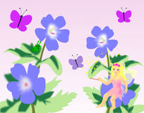 Little Flower Fairy Royalty Free Stock Photography