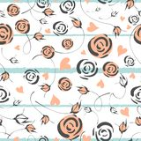 Little flowers. Seamless pattern with cute flowers. Delicate texture vector illustration