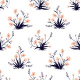 Little flowers. Seamless pattern with cute flowers. Delicate texture royalty free illustration
