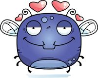 Little Fly in Love. A cartoon illustration of a fly in love stock illustration